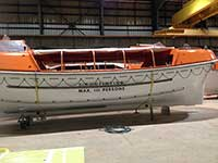 N&U crew inspect Carnival Fascination Lifeboats